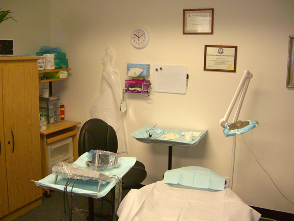 microblading procedure room
